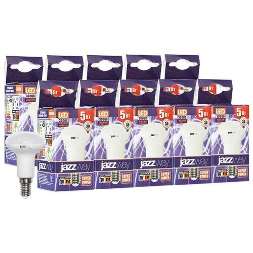 Упаковка светодиодных ламп 10 шт jazzway PLED-SP 3000K, E14, R39, 5Вт комплект из 3 ламп светодиодных диммируемых с пультом ду p45 rgbw e14 45вт 3000k 10683