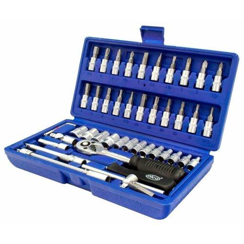 Набор автомобильных инструментов ALCA (46 предм.) 413200 синий набор автомобильных инструментов союз 48 предм 1045 20 s48c синий