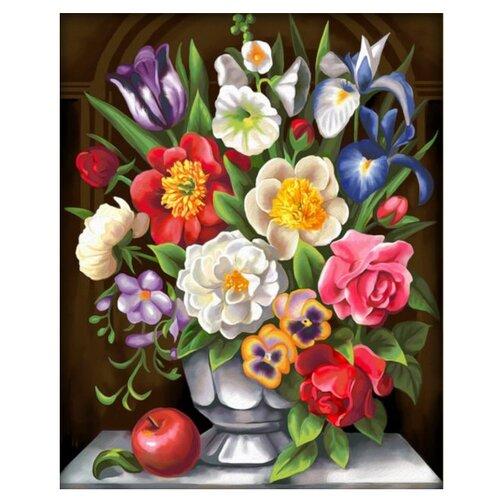 Алмазная живопись Набор алмазной вышивки Цветочная грация (АЖ-1604) 40x50 смАлмазная вышивка<br>