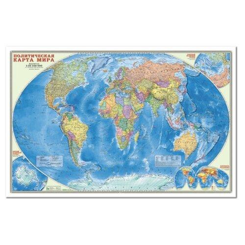 ГеоДом Политическая карта мира Настенная (9785906964397)