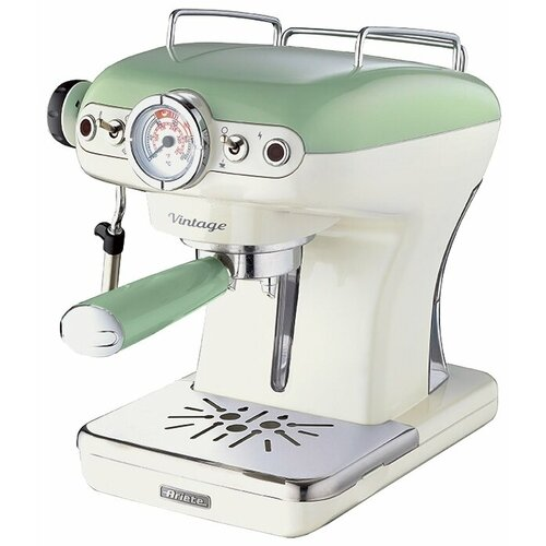 Кофеварка рожковая Ariete 1389 Vintage зеленый кофеварка ariete 1388 retro red