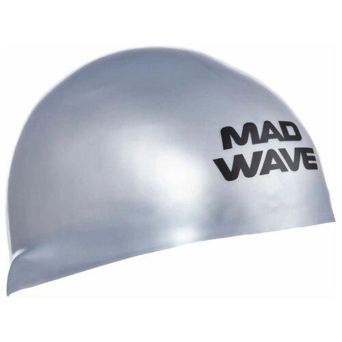 Шапочка для плавания MAD WAVE D-CAP серебро M втулка задняя m wave 36 отверстий с гайками для трещетки 6 776