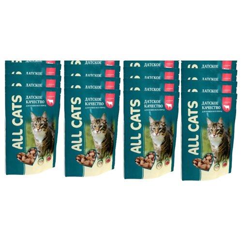 Корм для кошек ALL CATS 25 шт. Пауч с говядиной 0.085 кг