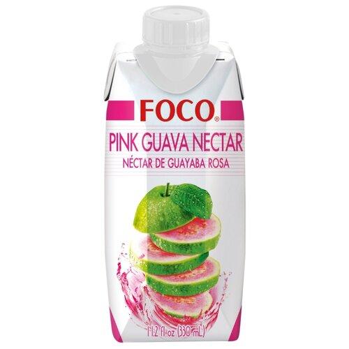 Нектар FOCO розовая гуава, 0.33 л