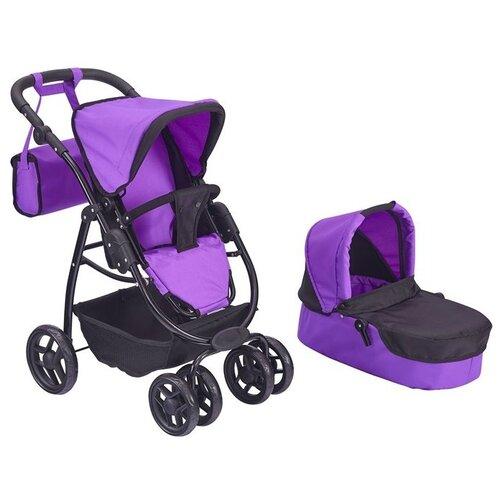 Купить Коляска-трансформер Buggy Boom Amidea с сумкой (9000) фиолетовый, Коляски для кукол