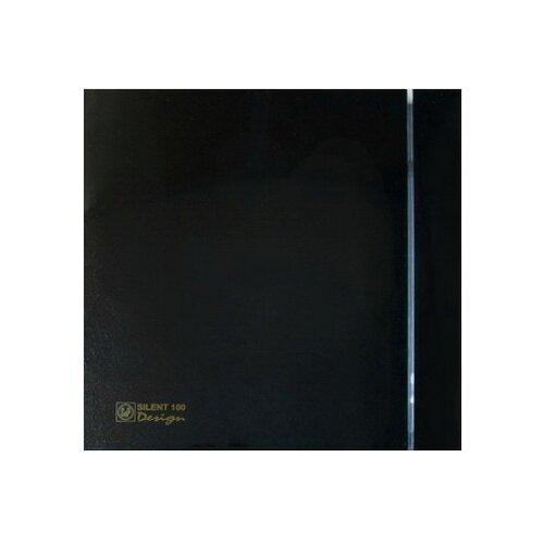 Вытяжной вентилятор Soler & Palau SILENT-100 CZ DESIGN 4C, black 8 Вт
