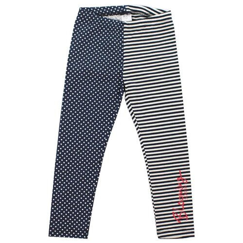 Купить Леггинсы V-Baby 58-028 размер 116, бело-синий, Брюки