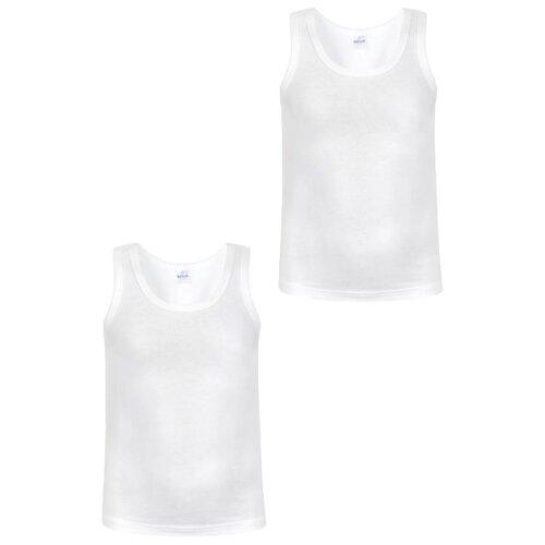 Купить Майка BAYKAR 2 шт., размер 122/128, белый, Белье и пляжная мода