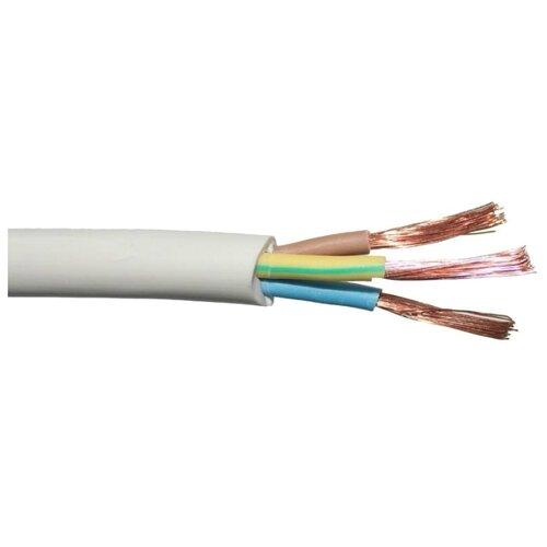 Провод Рэмз ПВС 3х4 (50 м) ГОСТ белыйКабели и провода<br>