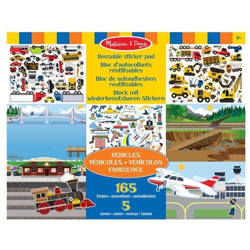 Купить Melissa & Doug Набор стикеров с фоном Транспорт (4199), Наклейки