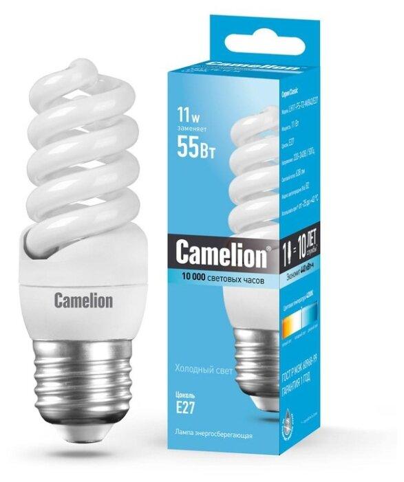 Лампа люминесцентная Camelion 10583, E27, T2, 11Вт
