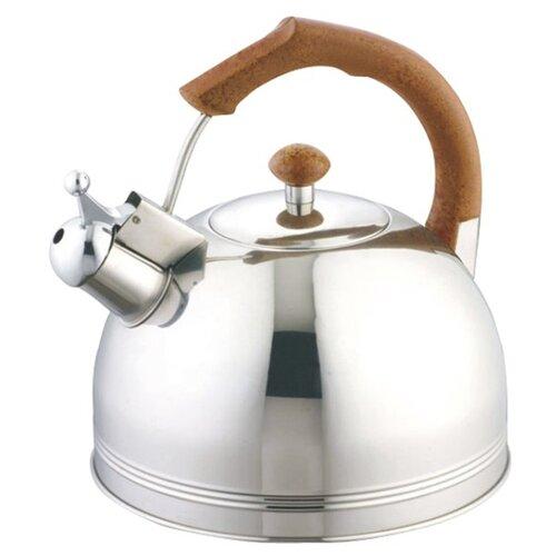 Appetite Чайник со свистком LKD-003 3,5 л, серебристый/коричневый