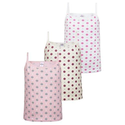 Купить Майка BAYKAR 3 шт., размер 146/152, белый/молочный/розовый, Белье и купальники