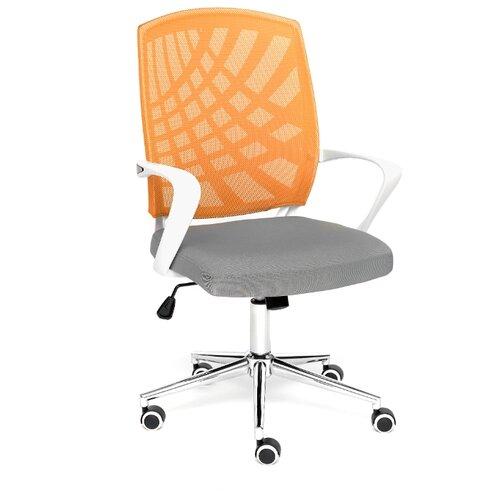 Компьютерное кресло TetChair Ray офисное, обивка: текстиль, цвет: серый/оранжевый кресло офисное tetchair leader 207 серый