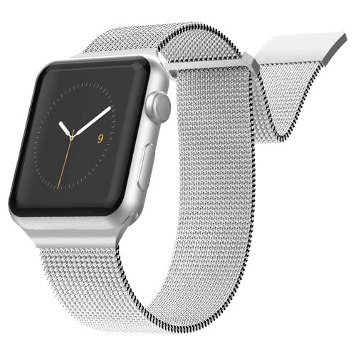 X-Doria Ремешок New Mesh Band для Apple Watch 42/44mm серебристый