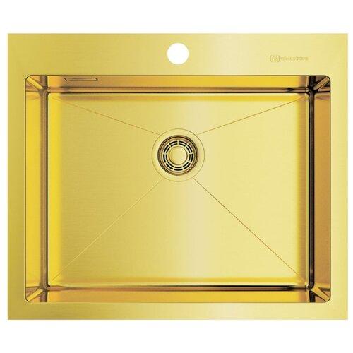 Врезная кухонная мойка 59 см OMOIKIRI Akisame 59-LG светлое золото врезная кухонная мойка 65 см omoikiri akisame 65 lg r светлое золото
