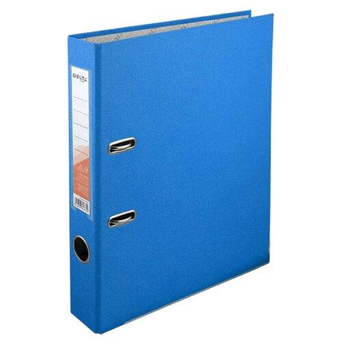 Купить Delta by Axent Папка-регистратор A4 с односторонним покрытием, 5cм голубой, Файлы и папки