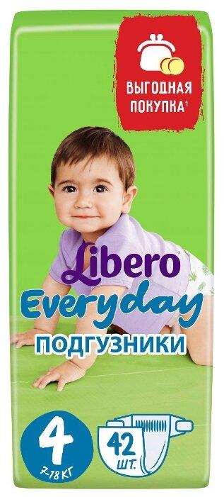 Libero подгузники Everyday 4 (7-18 кг) 42 шт.