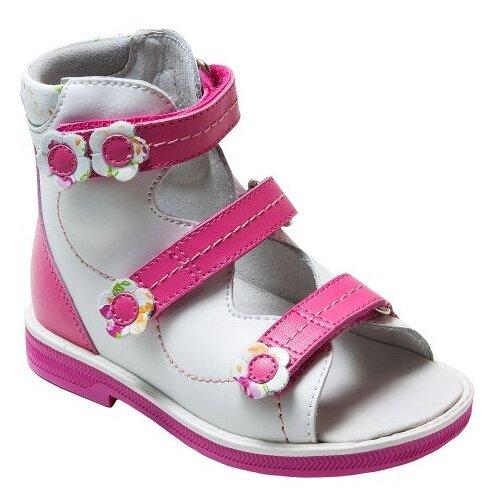 Сандалии Orthoboom размер 20, бело-розовыйОбувь для малышей<br>