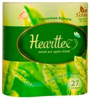 Туалетная бумага Hearttex белая трёхслойная 4 шт.
