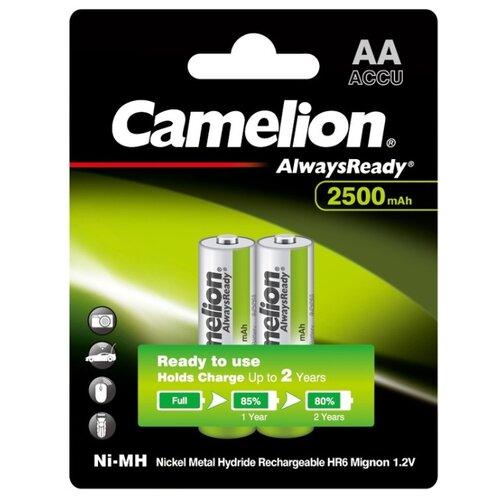 Аккумулятор Ni-Mh 2500 мА·ч Camelion Always Ready AA 2 шт блистер аккумулятор ni mh 2700 ма·ч эра c0038458 2 шт блистер