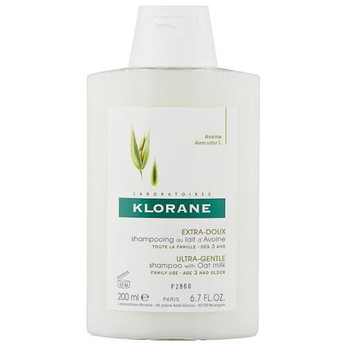 Klorane шампунь Ultra-Gentle, Protecting with Oat Milk 200 мл где купить шампунь klorane