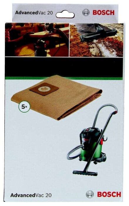 Bosch Бумажные пылесборники для AdvancedVac 20