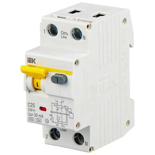 цена на Дифференциальный автомат IEK АВДТ 32 2П 30 мА C 25 А