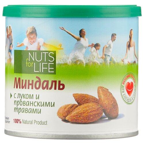Миндаль Nuts for Life обжаренный соленый с луком и прованскими травами, пластиковая банка 115 г nuts for life арахис в сахарной глазури с соком натуральной клюквы 115 г