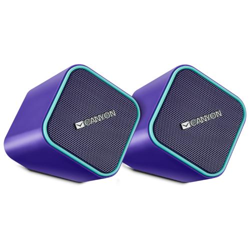 Компьютерная акустика Canyon Compact Stereo Speaker purple / light blue