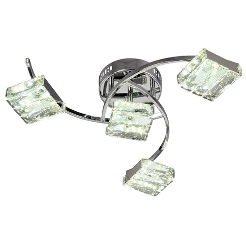 Люстра светодиодная Максисвет Геометрия 1-1663-4-CR Y LED, LED, 48 Вт