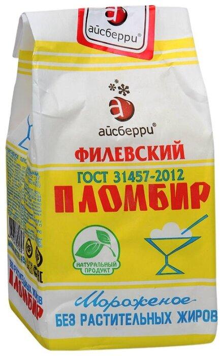 Мороженое Филевское пломбир ваниль 450 г