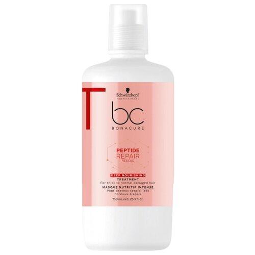 Фото - BC Bonacure Peptide Repair Rescue Deep Nourishing Маска для волос интенсивная питательная, 750 мл bc bonacure keratin smooth perfect маска для гладкости волос 750 мл
