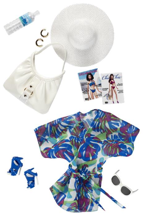 Barbie Пляжный комплект для куклы Барби Basics Look No 02—Collection 003