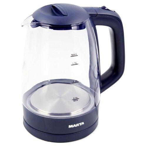 Чайник MARTA MT-1077, синий сапфир электрический чайник marta mt 1083 dark topaz