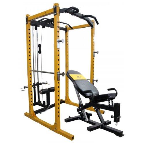 Многофункциональный тренажер DFC POWERGYM PK013 желтый/черный тренажер многофункциональный royal fitness bench 1520