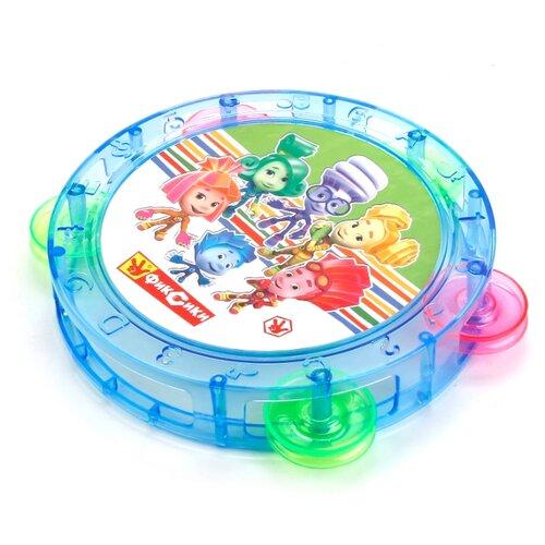 Купить Играем вместе бубен Фиксики B1549719-R синий/зеленый/розовый, Детские музыкальные инструменты