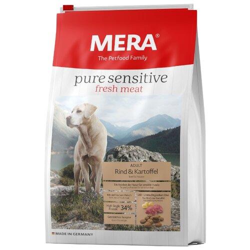 Корм для собак Mera (4 кг) Pure Sensitive Fresh Meat с говядиной и картофелем для взрослых собак