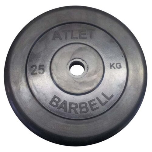 Фото - Диск MB Barbell MB-AtletB31 25 кг черный диск mb barbell mb atletb26 25 кг черный