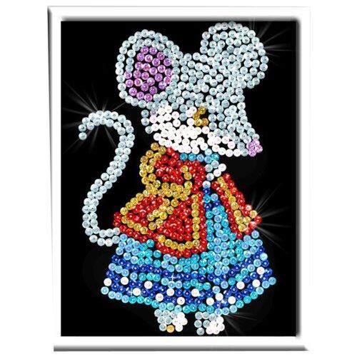 Купить Волшебная Мастерская Мозаика из пайеток Мышка М011, Картины из пайеток