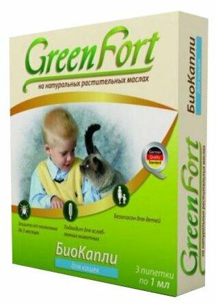 GreenFort Биокапли от блох для кошек и котят