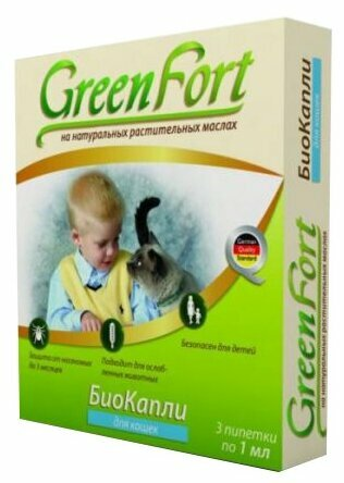 GreenFort neo Био капли для кошек