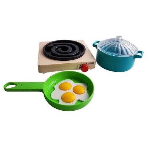Фото - Игровой набор Форма Летний С-189-Ф зеленый/голубой/желтый/бежевый/черный игровой набор bondibon кафе гамбургерная вв3699 желтый зеленый