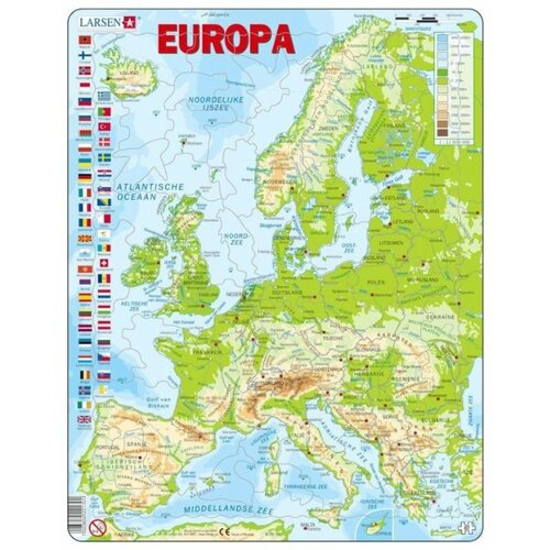 Купить Рамка-вкладыш Larsen Европа (K70), 87 дет., Пазлы