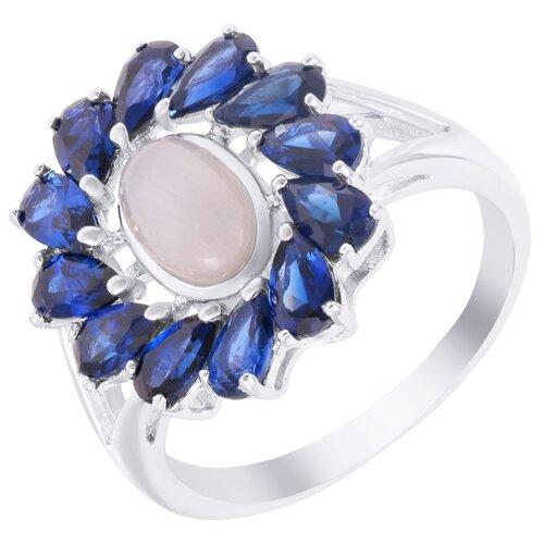 ELEMENT47 Кольцо из серебра 925 пробы с ювелирным стеклом и кубическим цирконием SR1555_KO_US_001_WG, размер 17.75