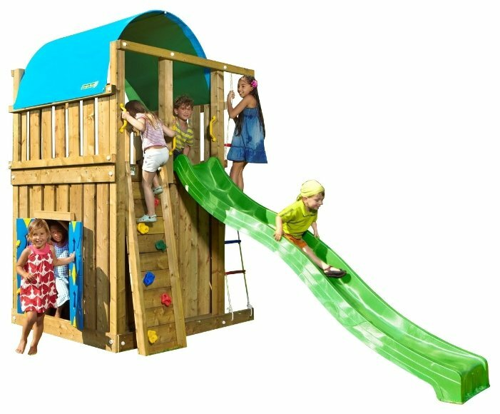 Домик Jungle Gym Villa + Playhouse Module
