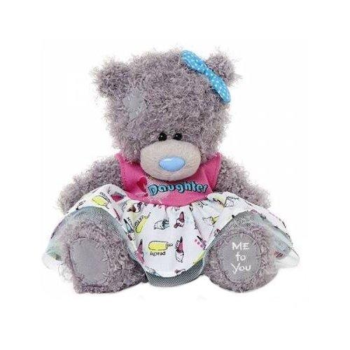 Мягкая игрушка Me to you Мишка Тедди в платье Daughter 18 см