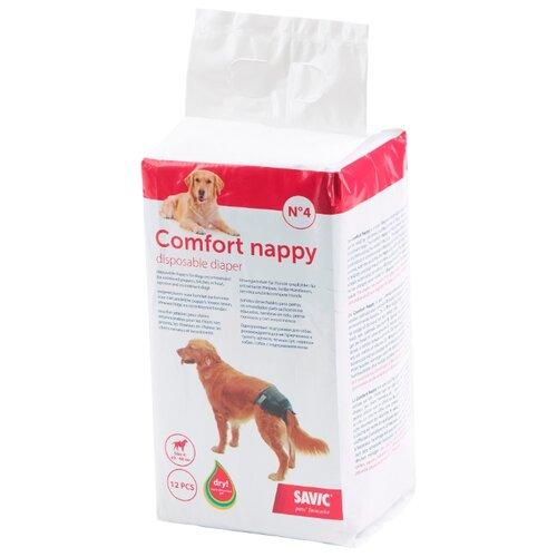Подгузники для собак SAVIC Comfort Nappy Size 4 12х10.5х21.5 см 12 шт.