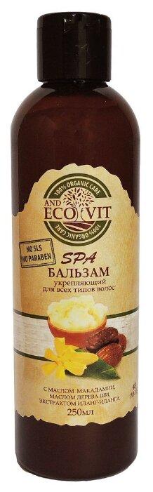 ECO&Vit бальзам Укрепляющий с маслом макадамии, маслом дерево ши, экстрактом иланг-иланга