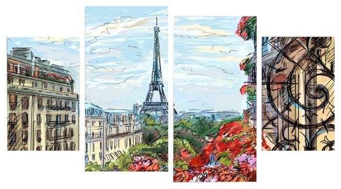 Модульная картина KARTINA style Сердце Парижа 90х60 см